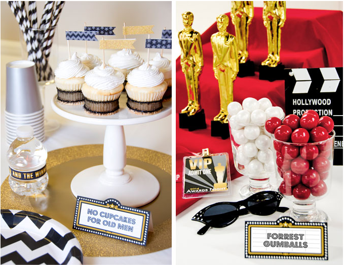 Golden Globes Party Decorations