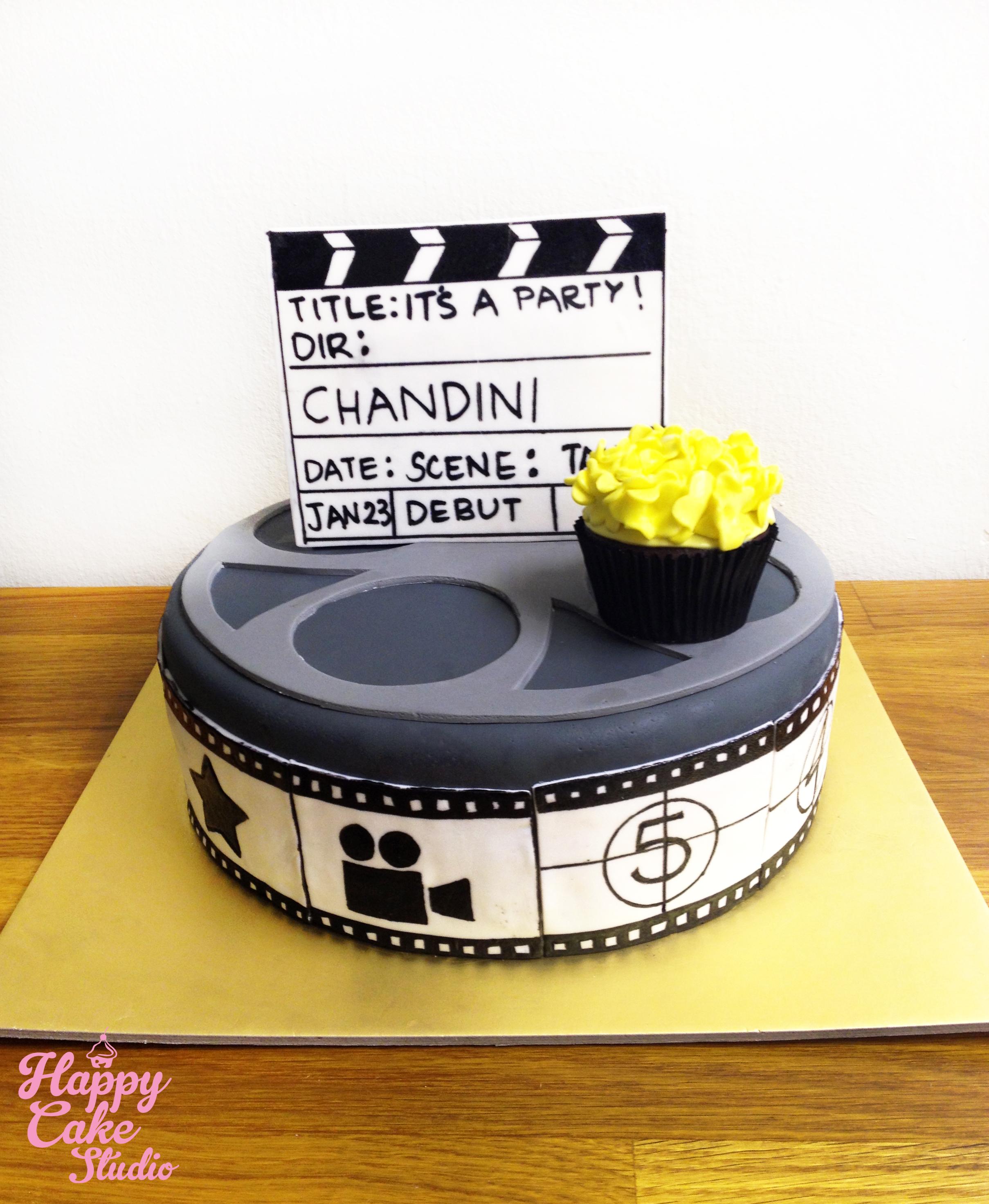 film reel cupcakes