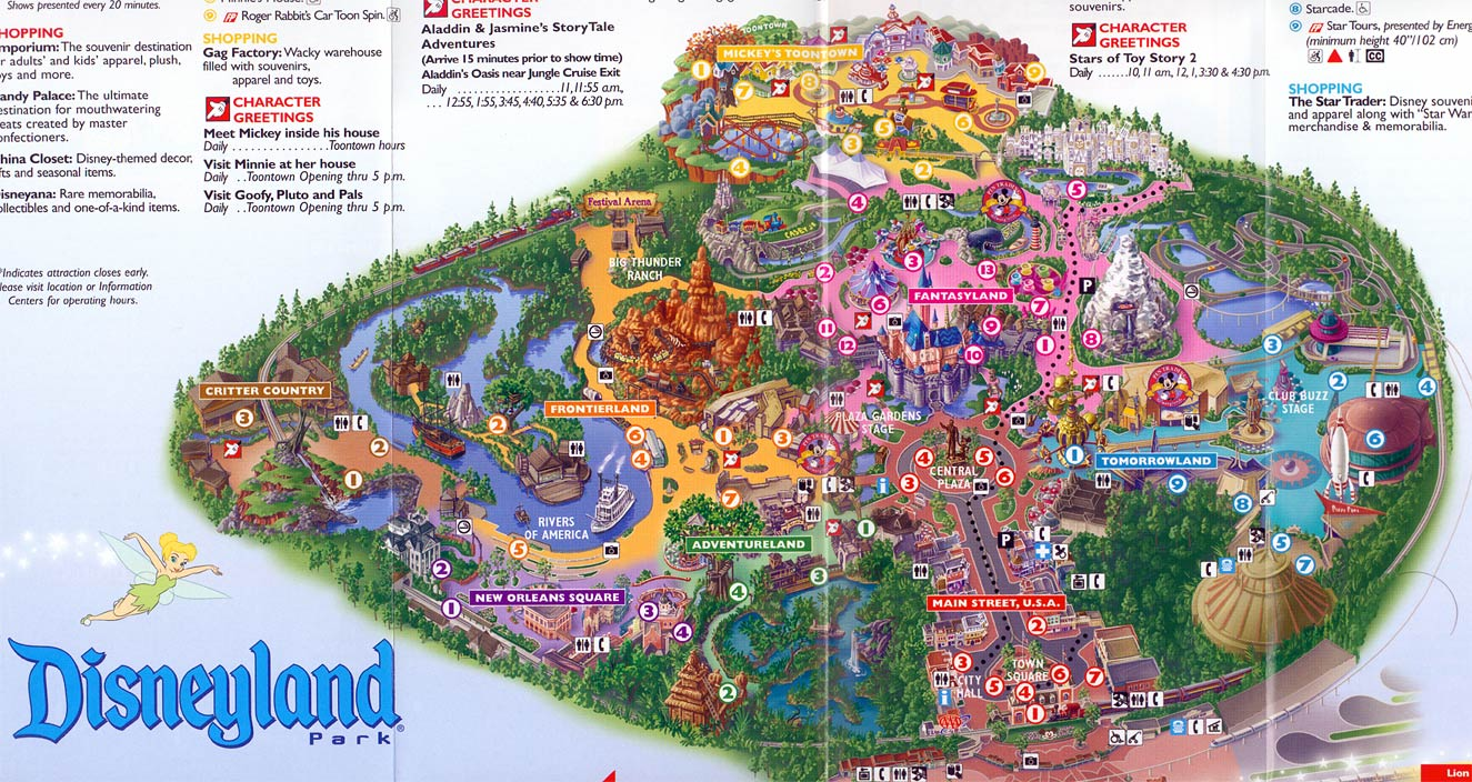disney park map bag
