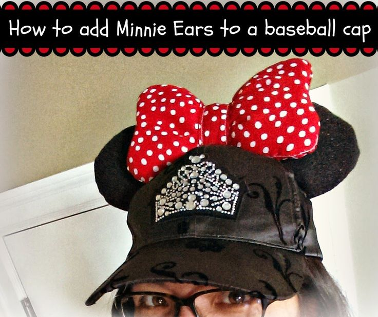 diy mickey ears baseball hat