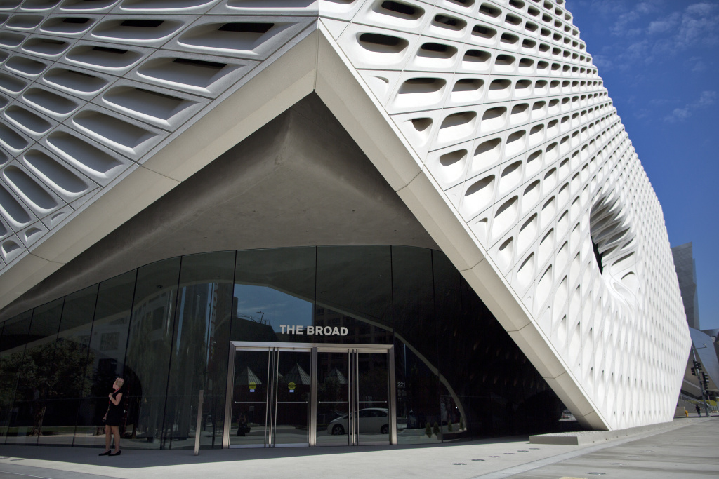 exhibits at the broad