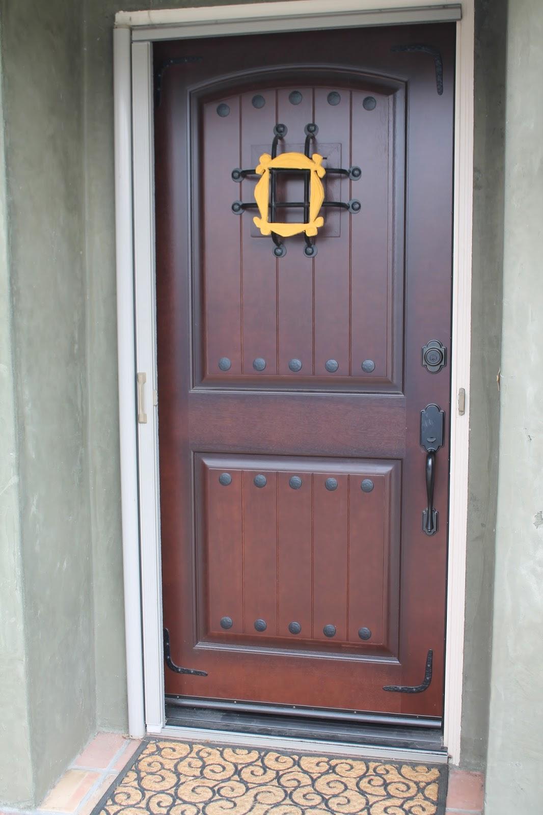 monica's door frame